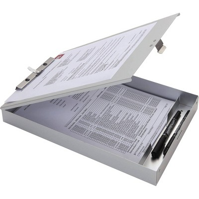 Business Source Storage Clipboard - Silver