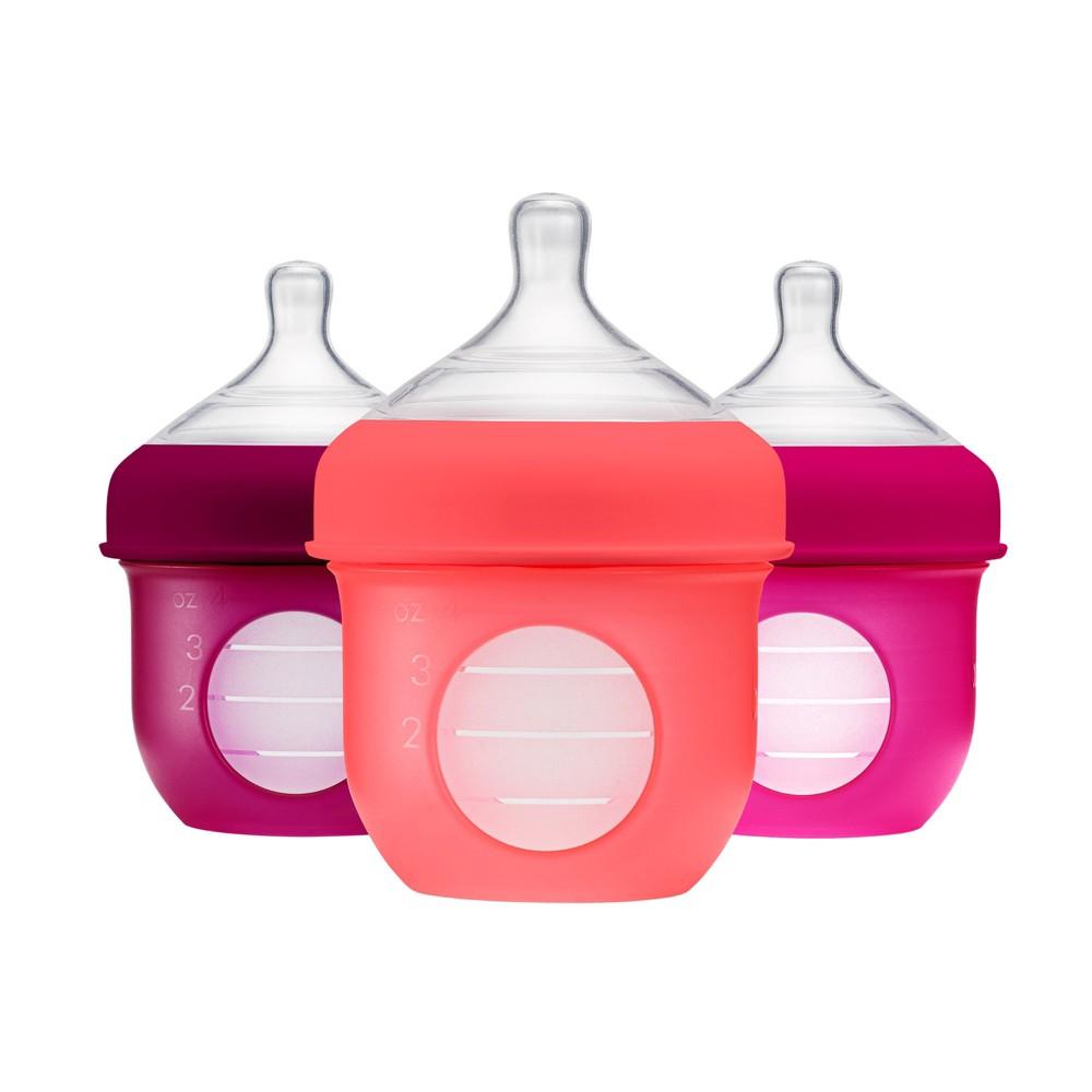Boon Nursh 4oz Bottle - Pink 3pk