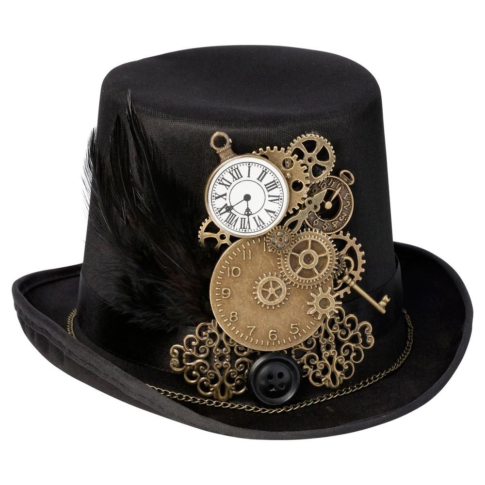 Steampunk Hats for Men | Top Hat, Bowler, Masks Steampunk Top Hat Ring Holder $18.35 AT vintagedancer.com