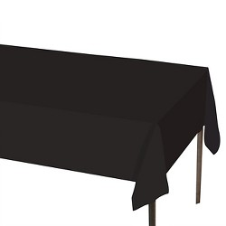 "Solid Tablecovers 54"" x 108"" Black - Spritz™"