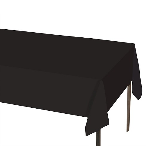 """Solid Tablecovers 54"""" x 108"""" Black - Spritz™ - image 1 of 1"""