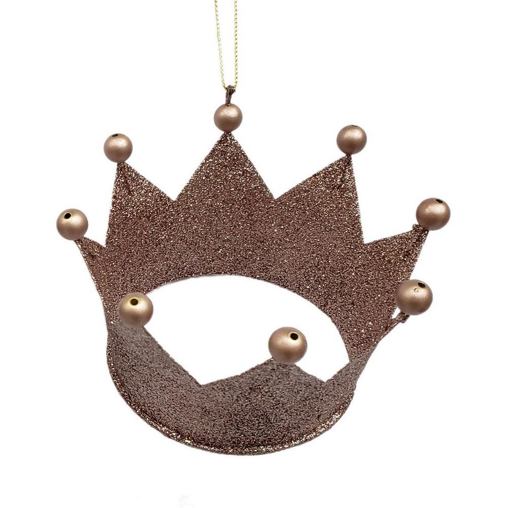 4ct Enchanted Eve Glitter Crowns Champagne (Beige) - Wondershop
