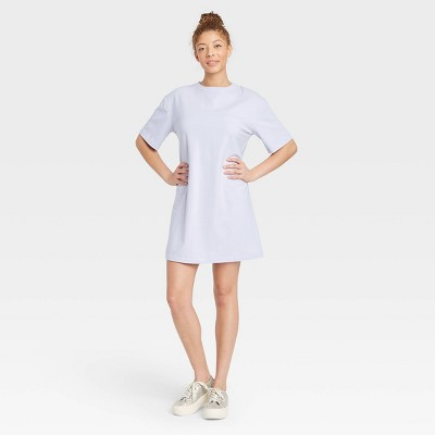 Women's Elbow Sleeve Knit T-Shirt Dress - A New Day™