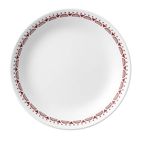 """Corelle 8.5"""" Glass Cordoba Salad Plate Red/White - image 1 of 2"""