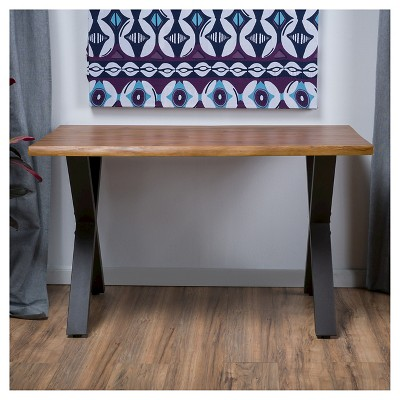 Jedidiah Acacia Wood Computer Desk Teak Finish - Christopher Knight Home : Target