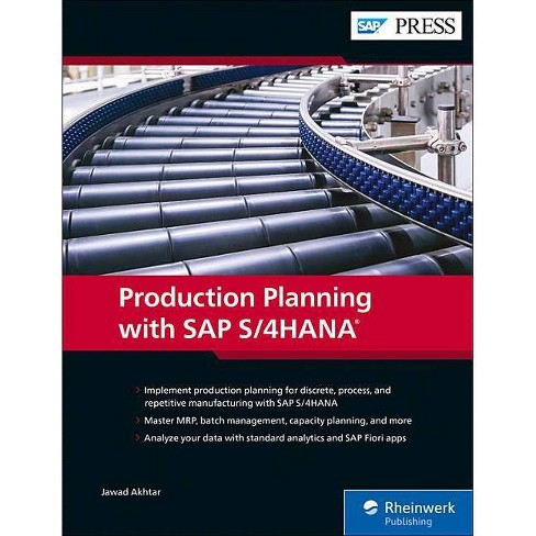 Production Planning with SAP S/4hana - by  Jawad Akhtar (Hardcover) - image 1 of 1