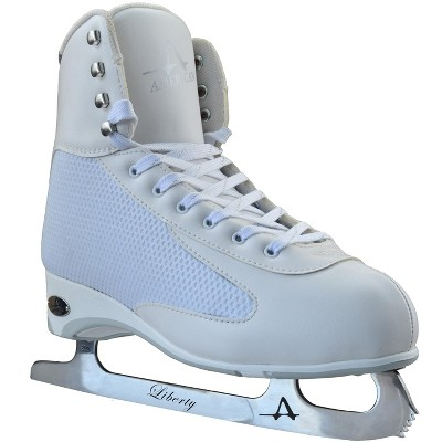 American Athletic Women's White Ice Figure Skate