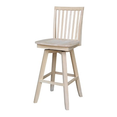 Mission Counter Height Barstool with Swivel and Auto Return Unfinished - International Concepts