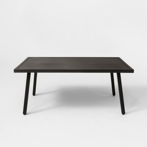 Fairmont Patio Coffee Table Black - Threshold™ - image 1 of 4