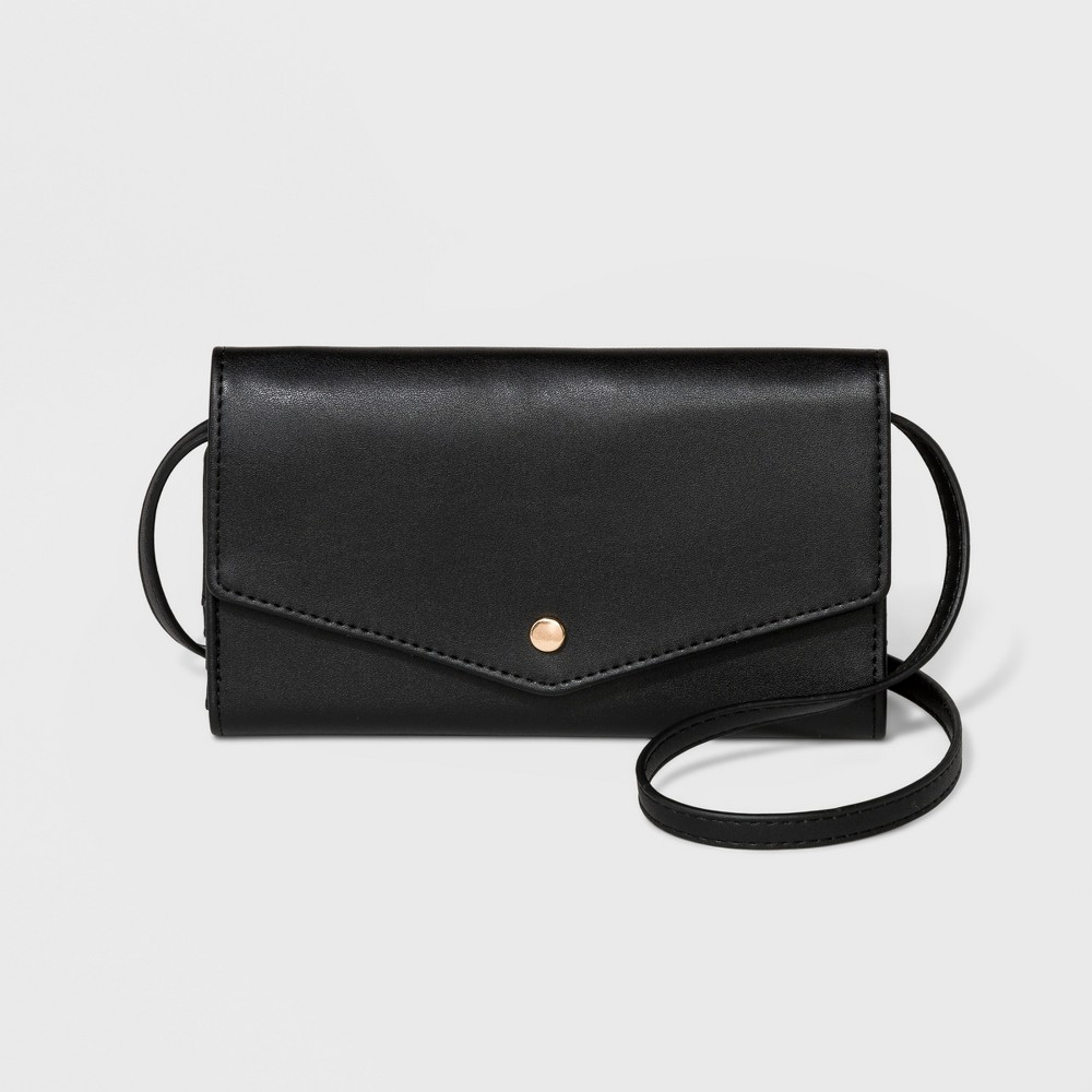 Women's String Classic Wallet - A New Day Black