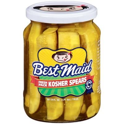 Best Maid Fresh Pack Kosher Pickle Spears - 24 fl oz