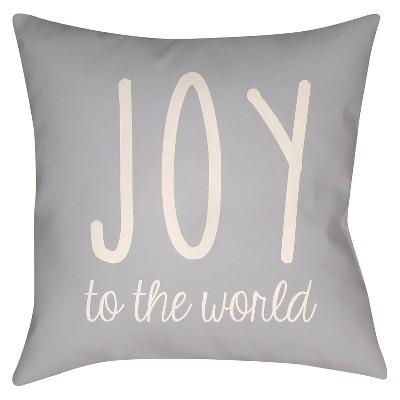 Gray Season's Joy Throw Pillow 20 x20  - Surya