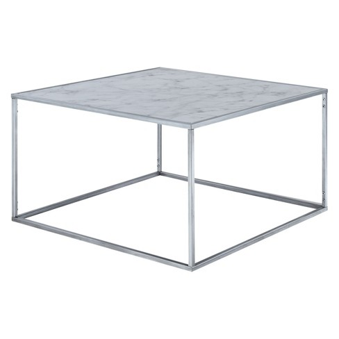 Gold Coast Faux Marble Coffee Table Faux Marble Silver