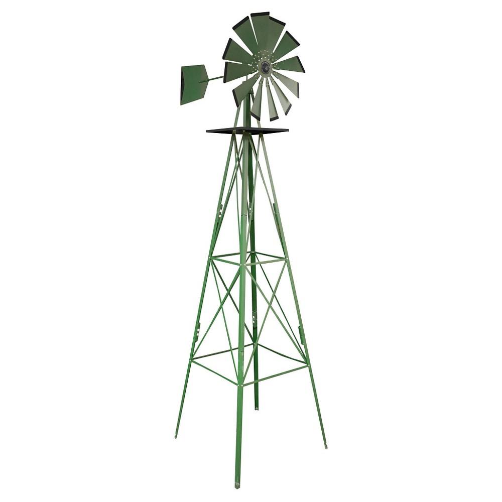 96 Classic Outdoor Steel Windmill - Green - Sportsman