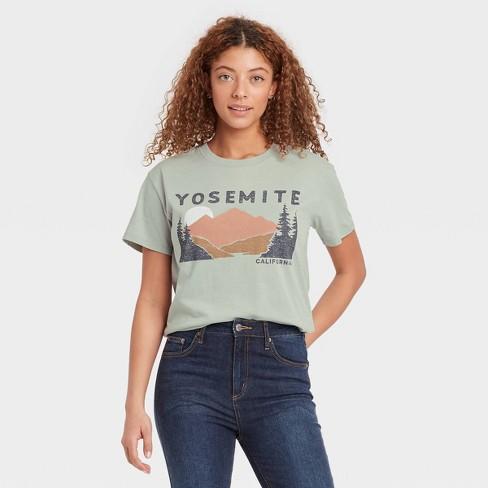 Women's Yosemite Short Sleeve Graphic T-Shirt - Green - image 1 of 2