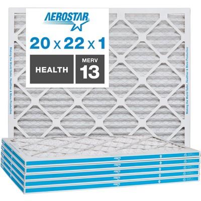 Aerostar AC Furnace Air Filter - Health - MERV 13 - Box of 6