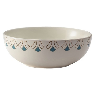 "Rachael Ray Pendulum Round Serving Bowl - Agave Blue/Mushroom Brown (10"")"