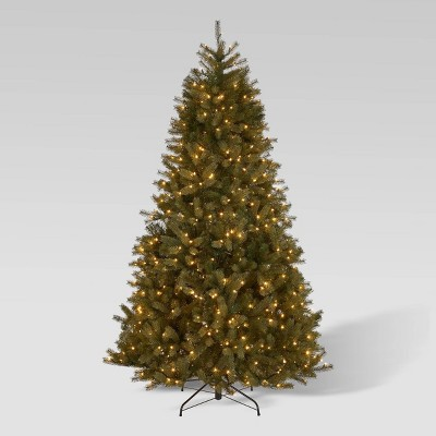 7.5ft Mixed Spruce Pre-Lit Full Artificial Christmas Tree Clear Lights - Christopher Knight Home