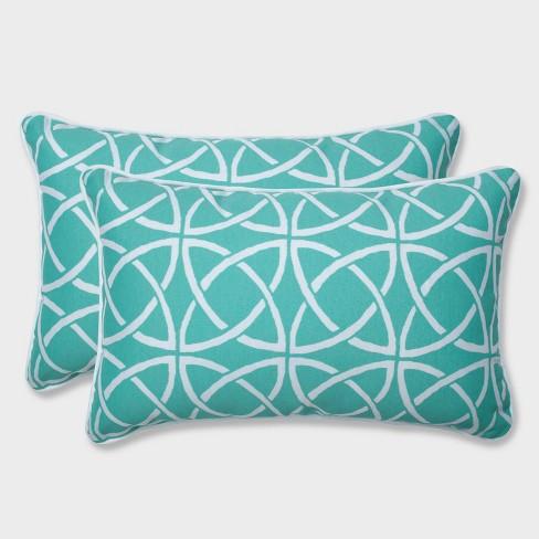 2pk Catamaran Tile Rectangular Throw Pillows Green - Pillow Perfect - image 1 of 1