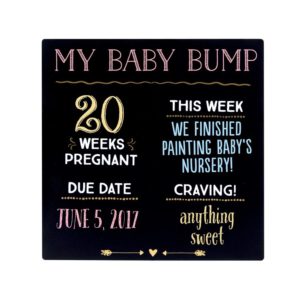 Image of Pearhead Baby Bump Chalkboard - 13x10x10, Black