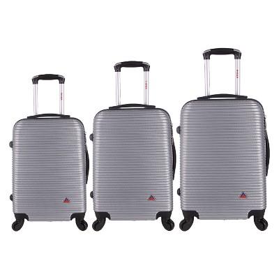 InUSA Royal 3pc Hardside Spinner Luggage Set 20 & 24 & 28  - Silver