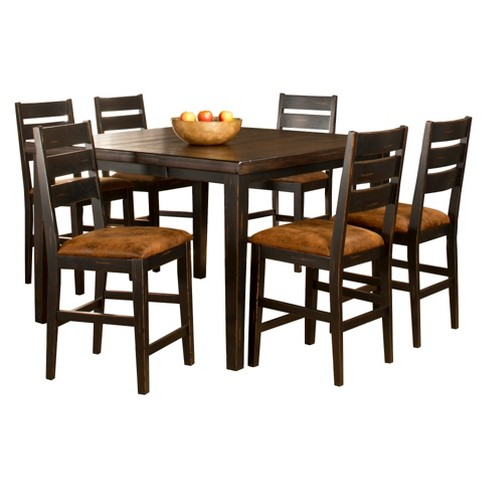Killarney Ladder Back Stool and Counter Height Dining Table Wood/Brown (5 Piece Set) - Hillsdale Furniture - image 1 of 1