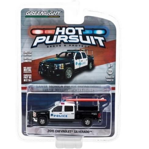 2017 Chevrolet Silverado Santa Monica California Police Department 1 64 Cast Model Car By Greenlight Target