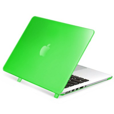 "Insten For Apple MacBook Pro 13"" with Retina Display Clip-on Matte Rubber Hard Case , Clear Green"