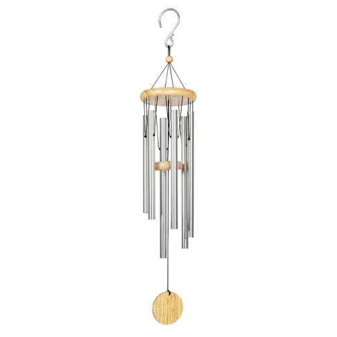 Medium Metal and Wood Chime Silver - Exhart - image 1 of 4