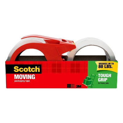 Scotch 2ct Tough Grip Moving Tape with Dispenser