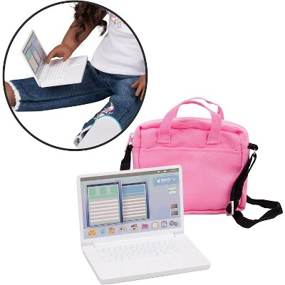Dress Along Dolly Metal Laptop Computer with Carrying Bag for American Girl Doll