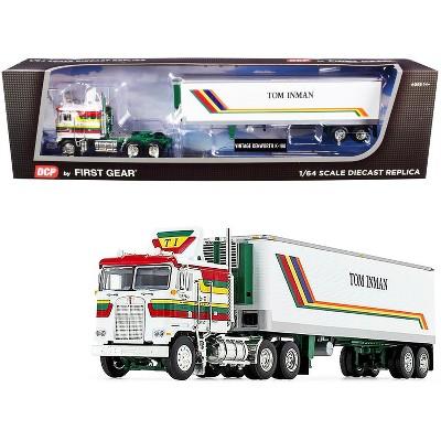 "Kenworth K100 COE w/ 40' Vintage Reefer Trailer ""Tom Inman Trucking"" White ""Fallen Flag Series"" 1/64 Diecast by DCP/First Gear"