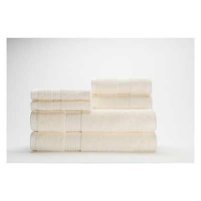 6pc Cromwell Ivory Bath Towels Sets - Caro Home