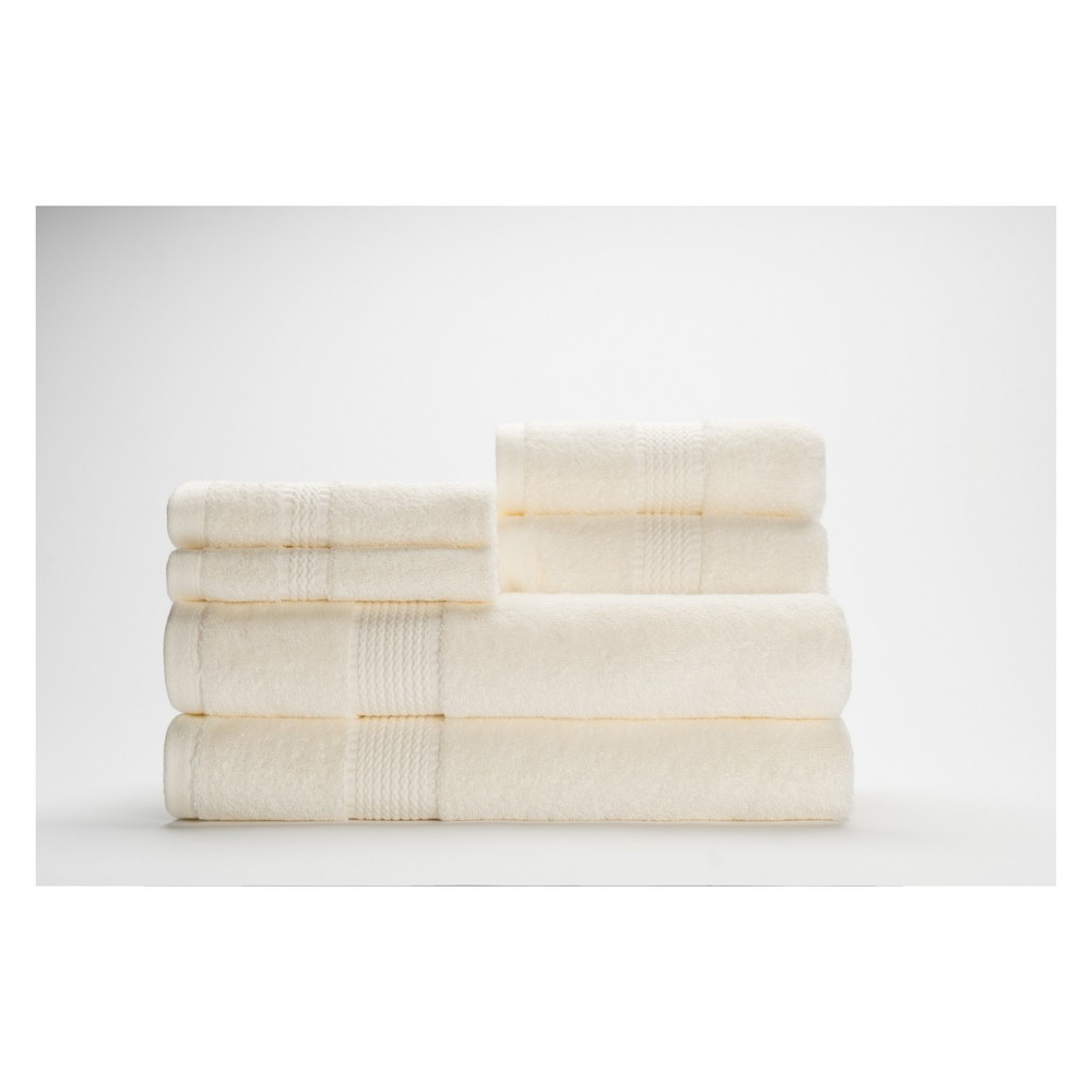 Image of 6pc Cromwell Ivory Bath Towels Sets - Caro Home