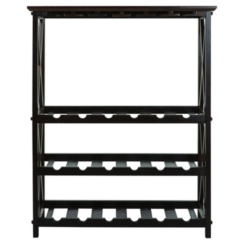 X Style Wine Rack- Espresso -  Flora Home - image 1 of 5
