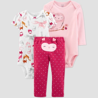 Baby Girls' Owl Top & Bottom Set - Just One You® made by carter's Pink 3M