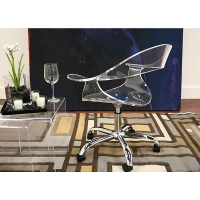 Elia Acrylic Swivel Chair Clear   Baxton Studio : Target
