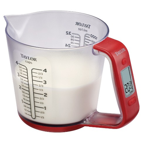 Taylor Digital Measuring Cup Scale with Food Conversions - image 1 of 3