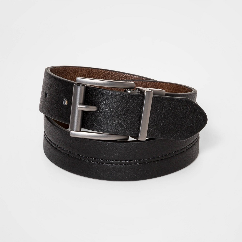 Image of Boys' Casual Reversible Belt - Cat & Jack Black/Brown XL, Boy's, MultiColored