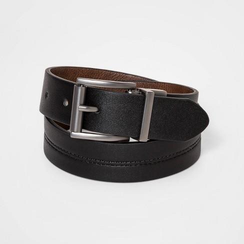 Boys' Casual Reversible Belt - Cat & Jack™ Black/Brown - image 1 of 2