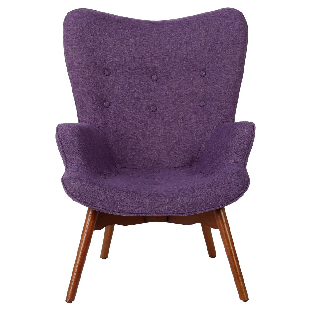 Hariata Fabric Contour Chair - Christopher Knight Home, Purple