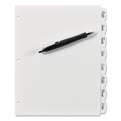 Avery Write-On Big Tab Plastic Dividers 8-Tab Letter 16371