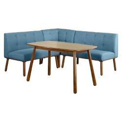 3 Piece Nook Dining Set Wood/Espresso - TMS : Target