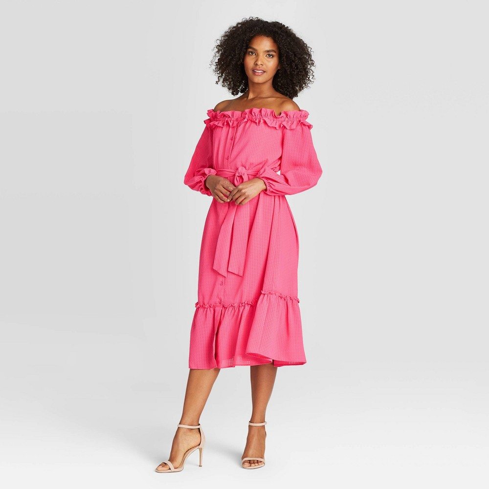Women's Puff Long Sleeve Dress - Who What Wear Pink M was $39.99 now $27.99 (30.0% off)