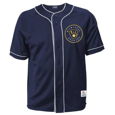 MLB Milwaukee Brewers Men's Button-Down Jersey