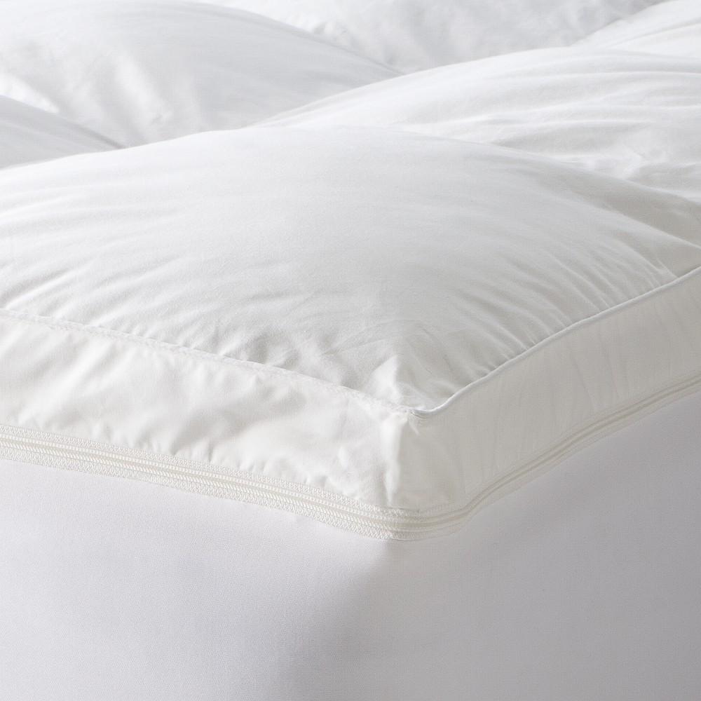"Image of ""Sleep Innovations 4"""" Dual Mattress Topper (2"""" MicroFiber + 2"""" Memory Foam) - White (California King)"""