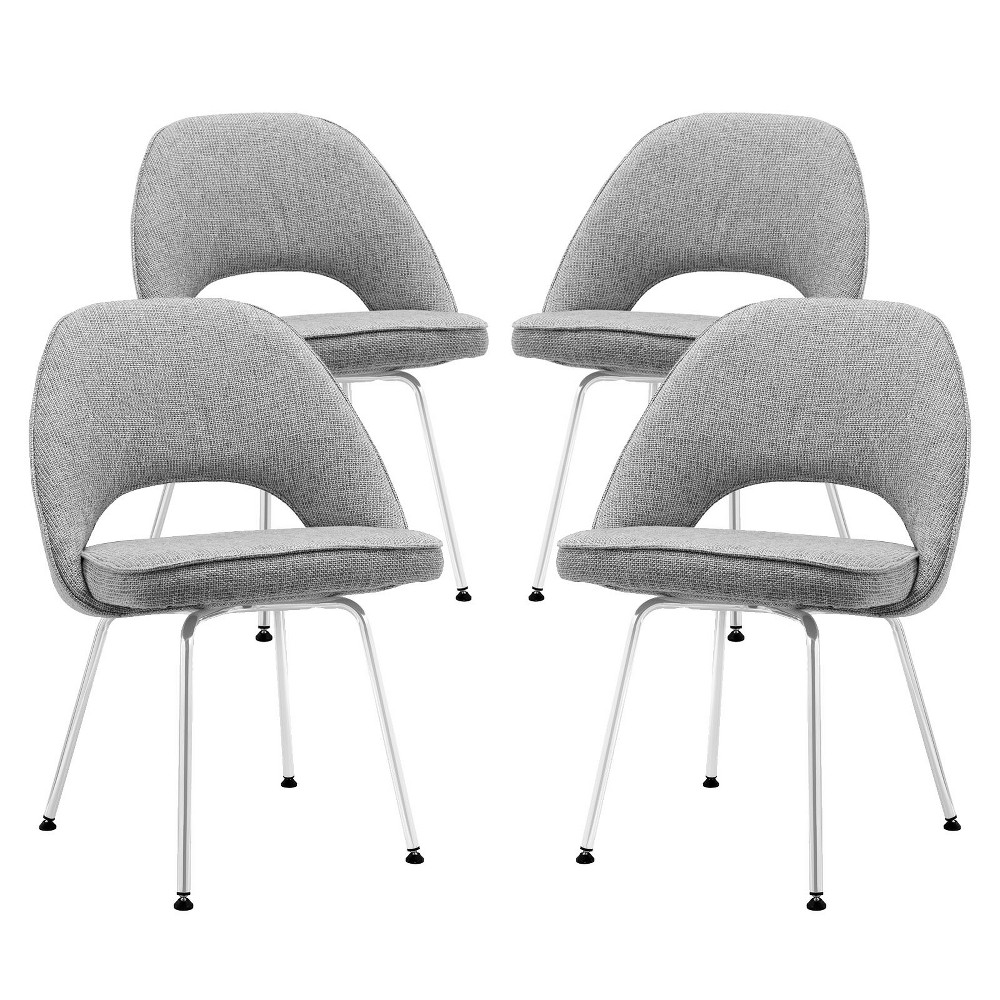 Cordelia Dining Chairs Set of 4 Light Gray - Modway