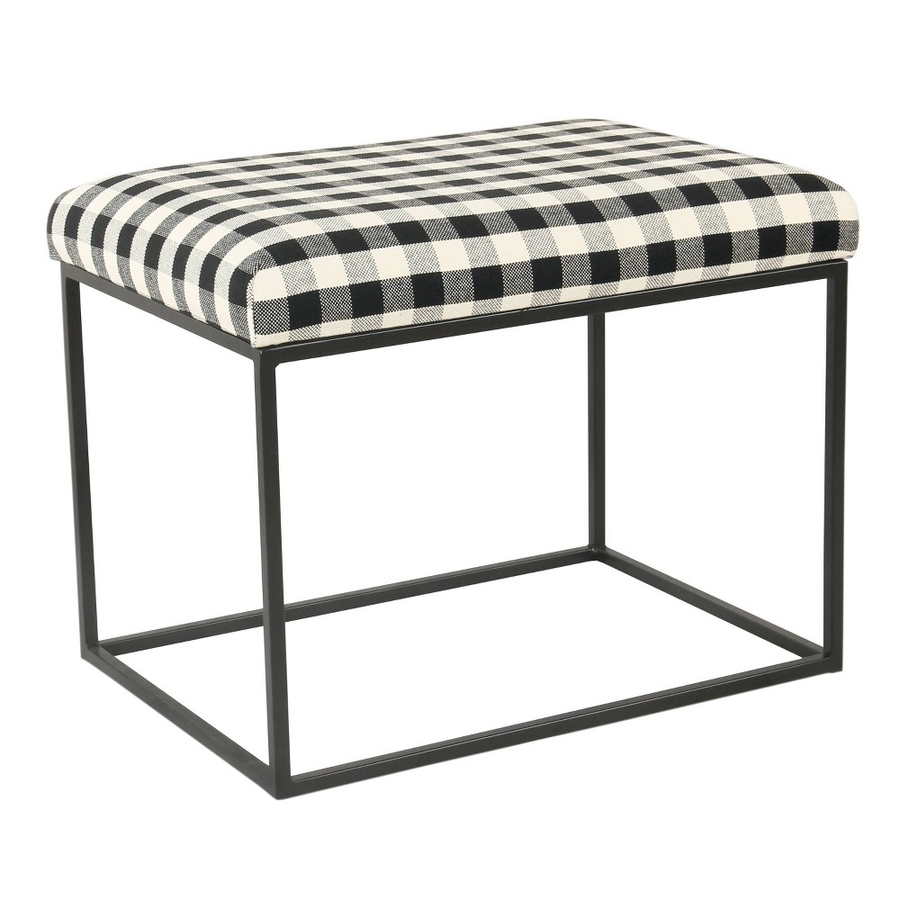 Small Decorative Ottoman Black - Homepop was $89.99 now $67.49 (25.0% off)