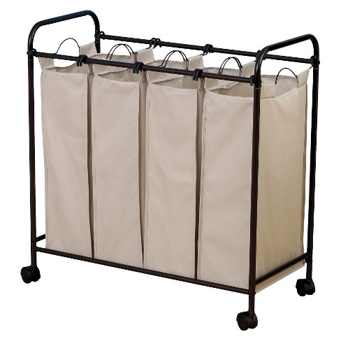 Household Essentials Quad Compartment Laundry Sorter - image 1 of 3