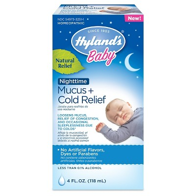 Children's Hylands Baby Nighttime Mucus & Cold Relief Syrup - 4 fl oz